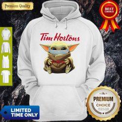 Premium Star Wars Baby Yoda Hug Tim Hortons Mask Covid 19 Hoodie