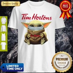 Premium Star Wars Baby Yoda Hug Tim Hortons Mask Covid 19 Shirt