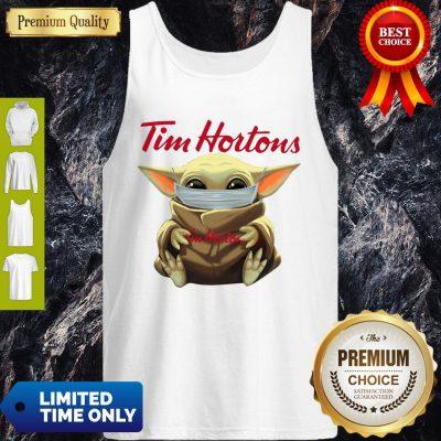 Premium Star Wars Baby Yoda Hug Tim Hortons Mask Covid 19 Tank Top