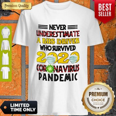 Nice Never Underestimate A Bus Driver Who Survived 2020 Coronavirus Pandemic Shirt