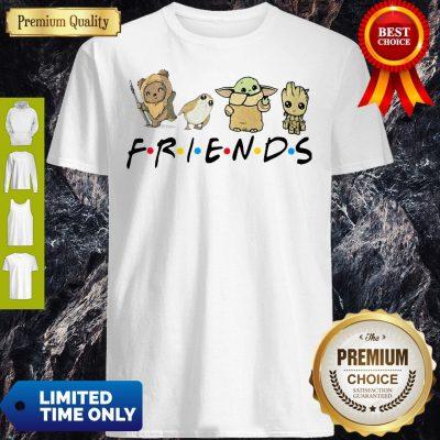 Pretty Pooh Penguin Baby Yoda Baby Groot Friends TV Show Shirt