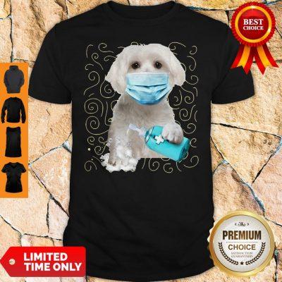 Awesome Maltese Dog Face Mask Quarantine Shirt