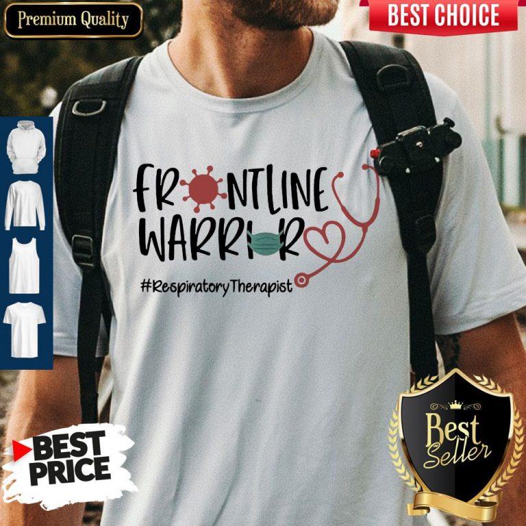 Stethoscope Heart Frontline Warrior Mask Respiratory Therapist Virus Corona Shirt