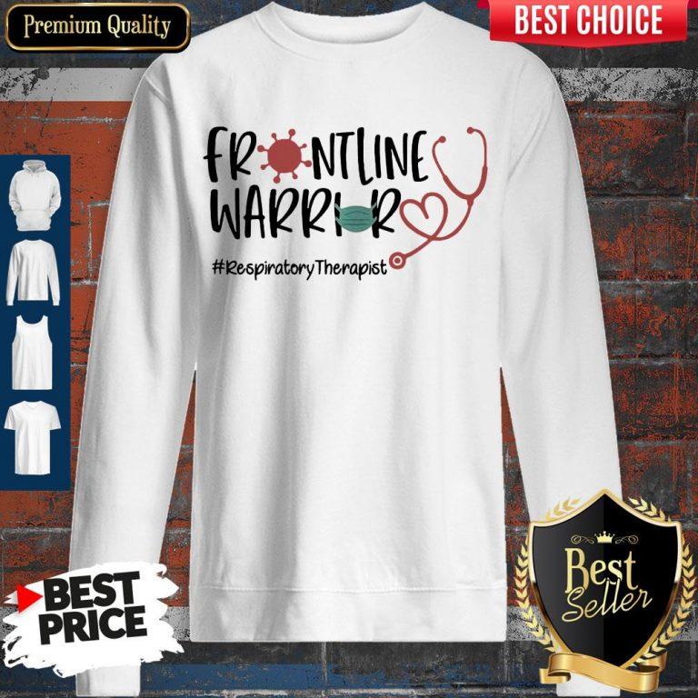 Stethoscope Heart Frontline Warrior Mask Respiratory Therapist Virus Corona Sweatshirt