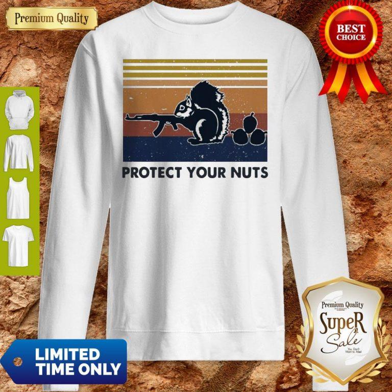 Premium Squirrel Protect Your Nuts Vintage Sweatshirt