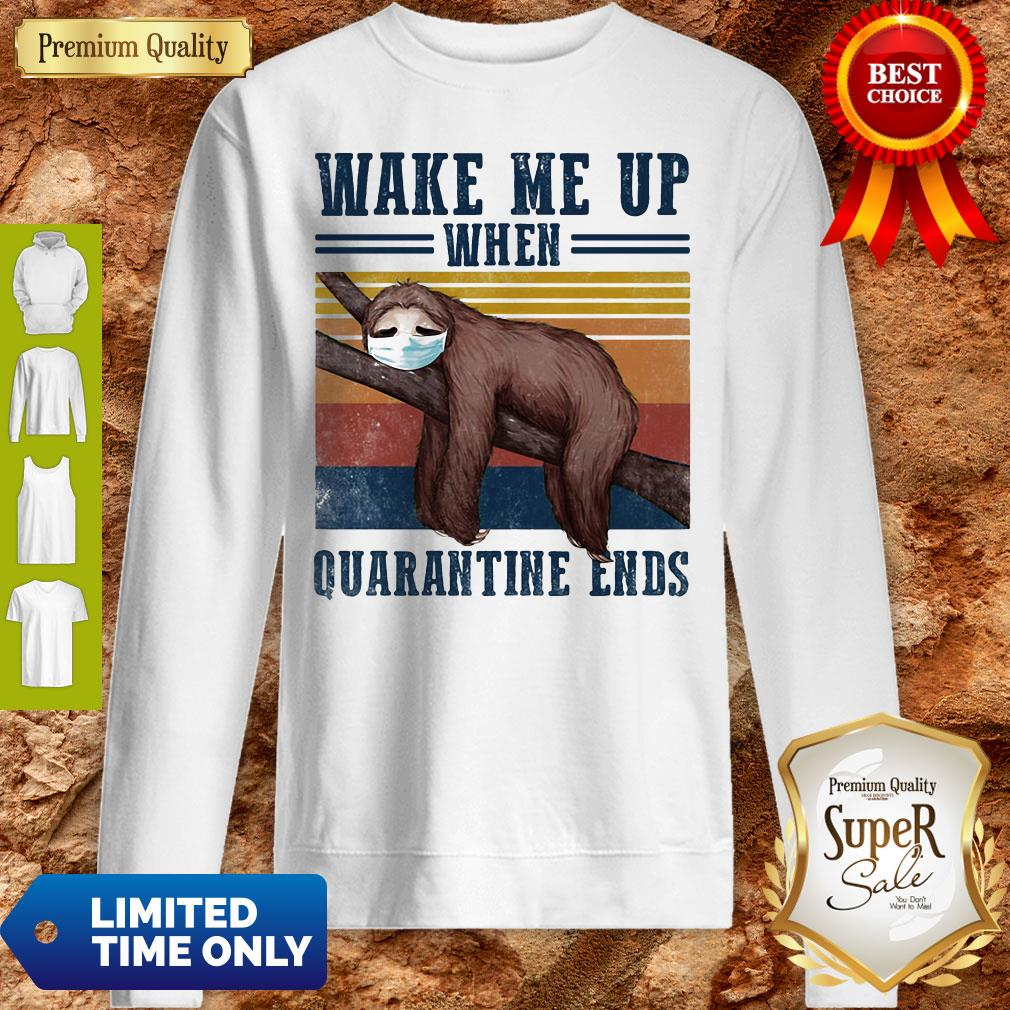 Good Sloth Wake Up Be Awesome Go To Bed That's How I Roll Vintage Sweatshirt