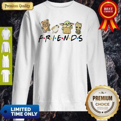 Pretty Pooh Penguin Baby Yoda Baby Groot Friends TV Show Sweatshirt