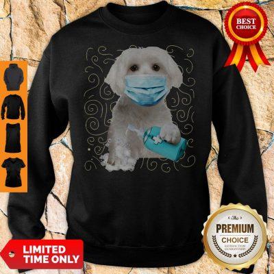 Awesome Maltese Dog Face Mask Quarantine Sweatshirt