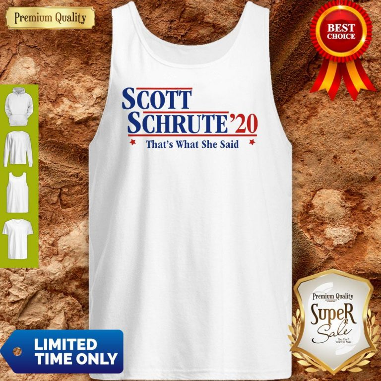 Official Scott Schrute'20 That's What She Said Tank Top