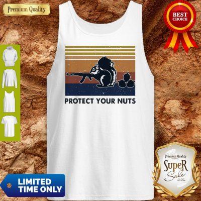Premium Squirrel Protect Your Nuts Vintage Tank Top