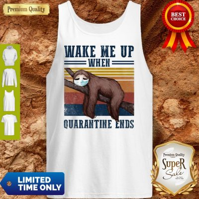 Good Sloth Wake Up Be Awesome Go To Bed That's How I Roll Vintage Tank Top