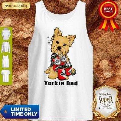 Premium Yorkie Dad And Beer Tank Top