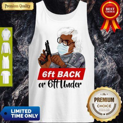 Premium 6ft Back Or 6ft Under Mask Gun Tank Top