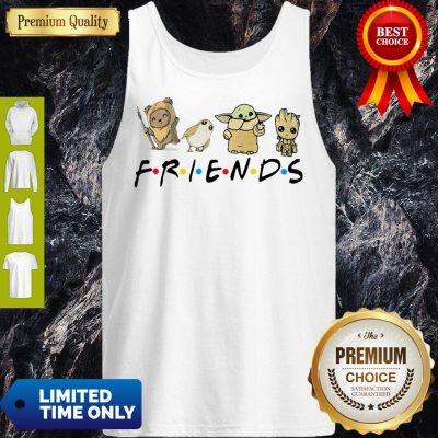 Pretty Pooh Penguin Baby Yoda Baby Groot Friends TV Show Tank Top
