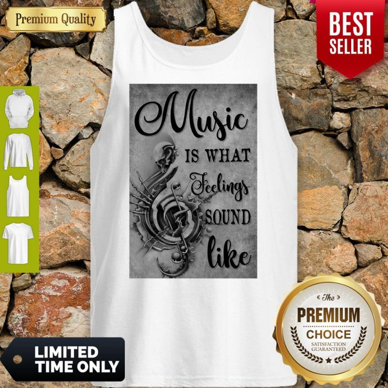 Awesome Music Is What Feeling Sound Like Vertical Poster Tank Top