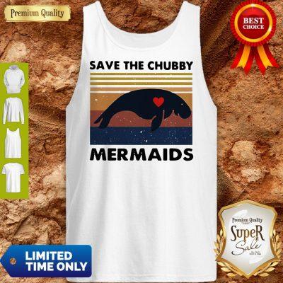 Premium Save The Chubby Mermaids Vintage Tank Top