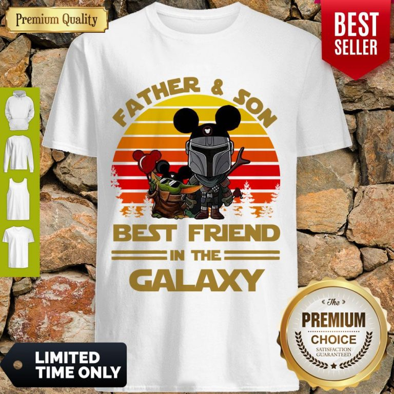 The Mandalorian And Baby Yoda Father And Son Best Friend In The Galaxy Vintage Shirt