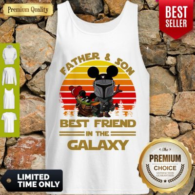 The Mandalorian And Baby Yoda Father And Son Best Friend In The Galaxy Vintage Tank Top