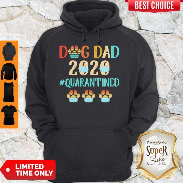Top Dog Dad 2020 Mask #Quarantined Vintage Hoodie