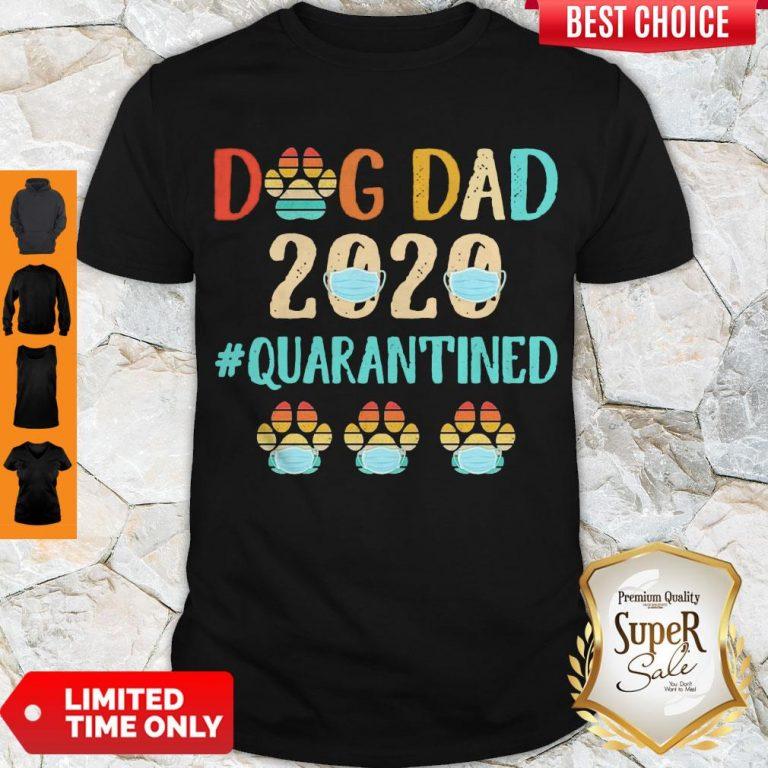 Top Dog Dad 2020 Mask #Quarantined Vintage Shirt