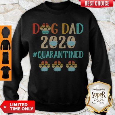 Top Dog Dad 2020 Mask #Quarantined Vintage Sweatshirt