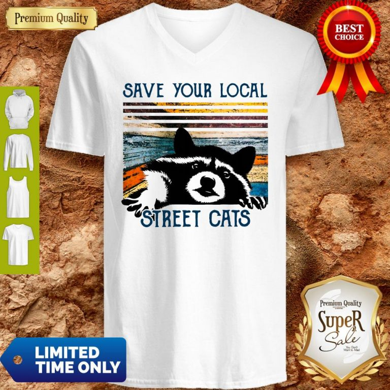Premium Save Your Local Street Cats Vintage V-neck