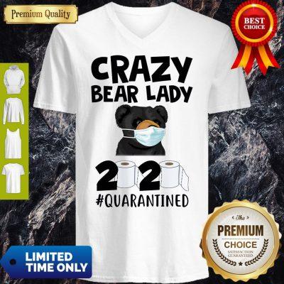 Top Official Crazy Bear Lazy Face Mask 2020 Toilet Paper Quarantined V-neck