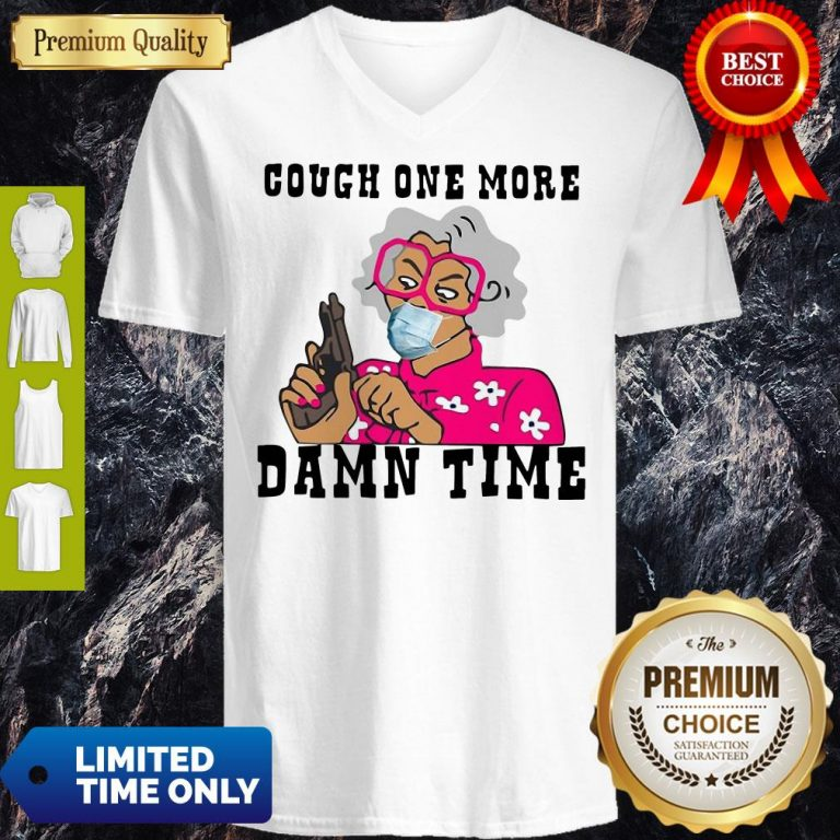 Awesome Cough One More Damn Time V-neck