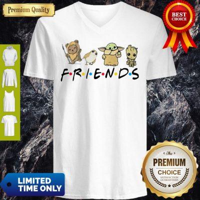 Pretty Pooh Penguin Baby Yoda Baby Groot Friends TV Show V-neck