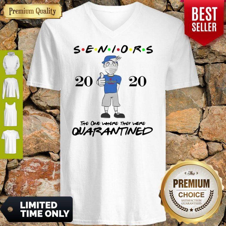 Top Seniors Class Of 2020 Quarantine Graduation Gift And Keepsake V-neck
