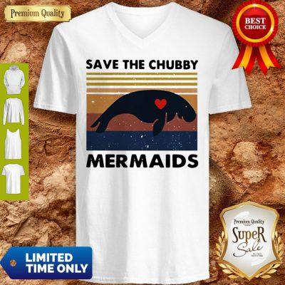 Premium Save The Chubby Mermaids Vintage V-neck