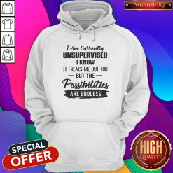 Original I Am Currently Unsupervised I Know It Freaks Me Out Too But The Possibilities Are Endless Hoodie