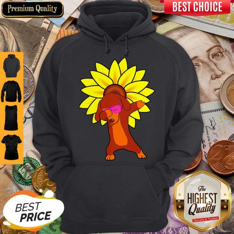 Awesome Dachshund Sun Flower Hoodie