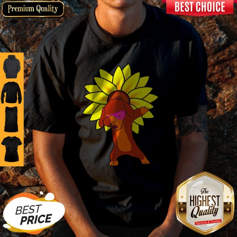 Awesome Dachshund Sun Flower Shirt