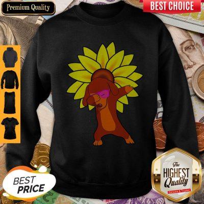 Awesome Dachshund Sun Flower Sweatshirt