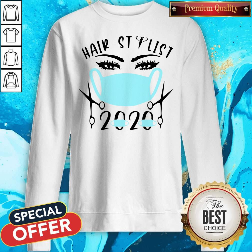 Awesome Hair Stylist 2020 Mask Sweatshirt