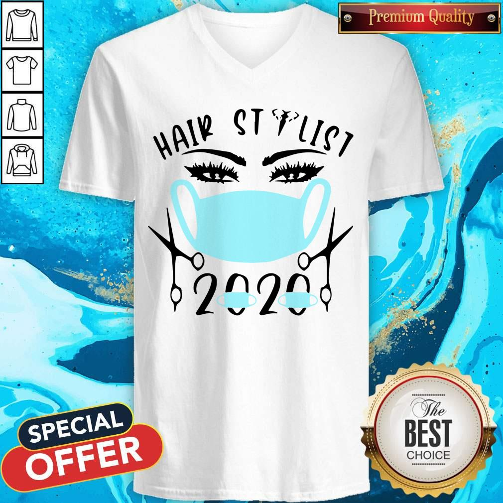 Awesome Hair Stylist 2020 Mask V-neck