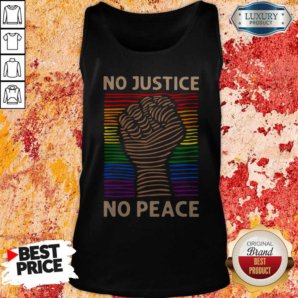 Awesome LGBT No Justice No Peace Tank Top