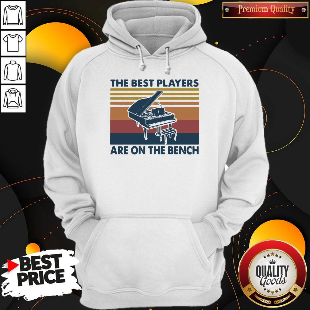 Awesome Piano The Best Players Are On The Bench Vintage Hoodie
