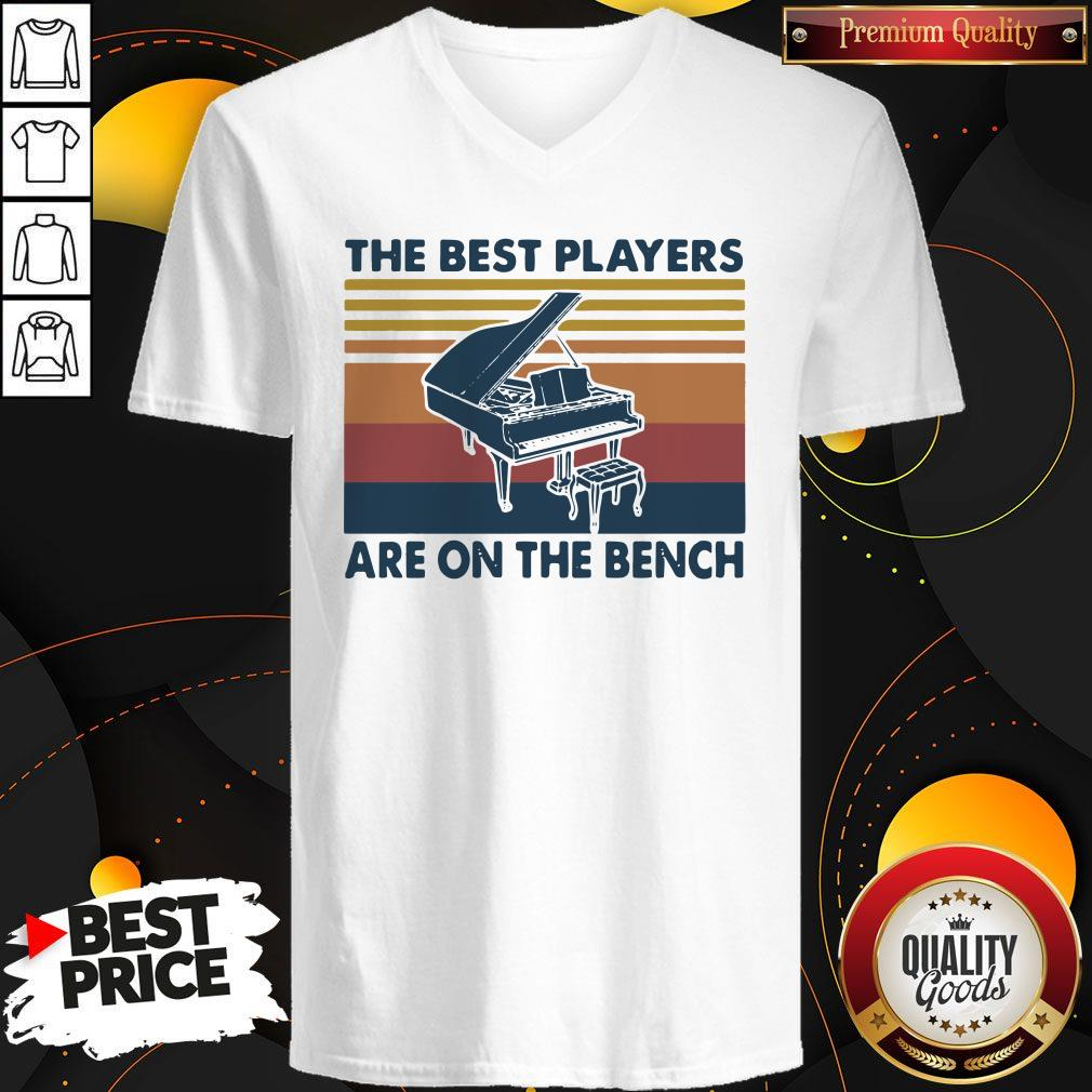Awesome Piano The Best Players Are On The Bench Vintage V-neck