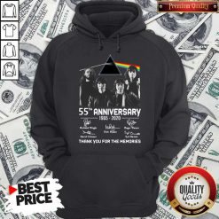 Awesome Pink Floyd 55th Anniversary 1965 2020 Thank You For The Memories Signatures Hoodie