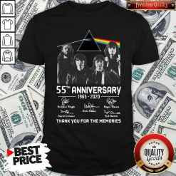 Awesome Pink Floyd 55th Anniversary 1965 2020 Thank You For The Memories Signatures Shirt