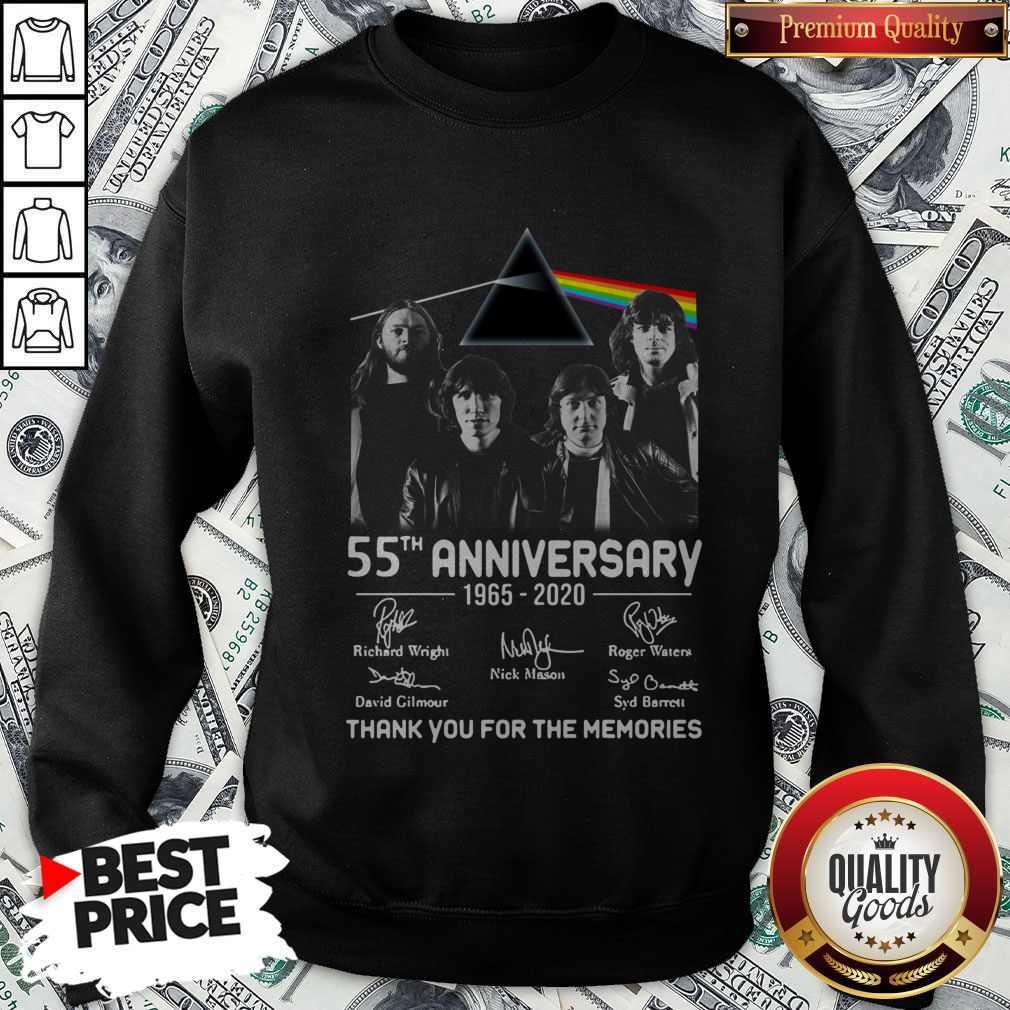 Awesome Pink Floyd 55th Anniversary 1965 2020 Thank You For The Memories Signatures Sweatshirt