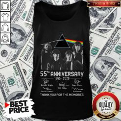 Awesome Pink Floyd 55th Anniversary 1965 2020 Thank You For The Memories Signatures Tank Top