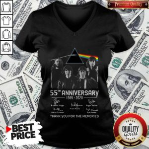Awesome Pink Floyd 55th Anniversary 1965 2020 Thank You For The Memories Signatures V-neck