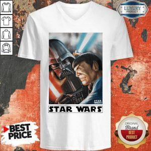 Awesome Star Wars Meets Star Trek V-neck