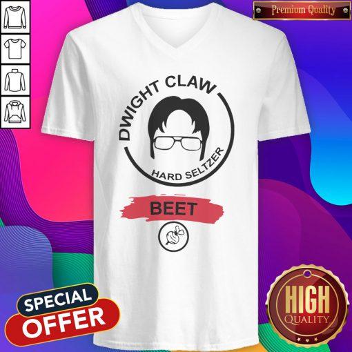 Funny Dwight Claw Hard Seltzer Beet V-neck