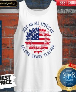 Funny Just An All American 2nd Grade Teacher Tank Top