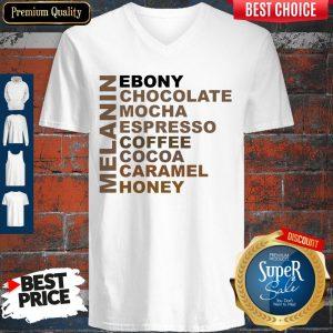 Funny Melanin Ebony Chocolate Mocha Espresso V-neck