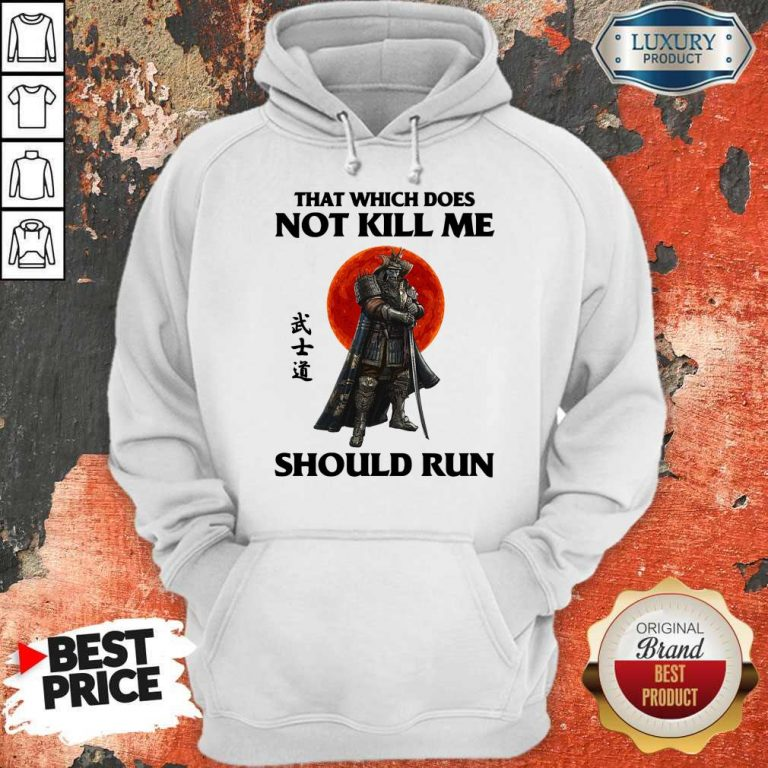 Funny Samurai That Which Does Not Kill Me Should Run Hoodie